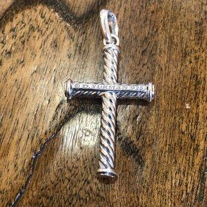 David Yurman .925 cross pendant